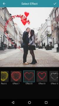 Một file ảnh với hiệu ứng động đẹp mắt do Love Photo Effects tạo ra