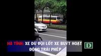 Hình ảnh xe dù đội lốt xe buýt hoạt động trái phép ở Hà Tĩnh