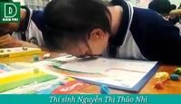 Học sinh bị bệnh tạng, mắt mờ thi vẽ tranh bằng đất nặn