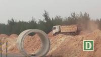 Doanh nghiệp khai thác cát trái phép.
