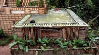 """Tròn mắt xem """"biệt thự"""" có bể bơi được xây bằng tay chỉ trong vài ngày!"""