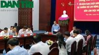 Bộ trưởng Lao động nói về giảm nghèo và người có công ở Bạc Liêu.