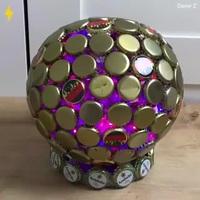 Tự chế đèn trang trí tuyệt đẹp từ những nắp chai bỏ đi