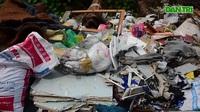 Hà Nội: Rùng mình ngập ngụa rác thải tại cầu vượt Hoàng Hoa Thám – Văn Cao