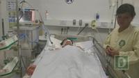 Em Võ Thanh đang được điều trị tại Bệnh viện Đà Nẵng với tiên lượng còn nặng nề