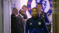Các cầu thủ Leicester tới Stamford Bridge