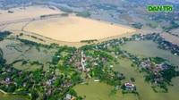 """Toàn cảnh tuyến đê bê tông """"khổng lồ"""" gần 40 tỷ đồng ngăn lụt cho nội thành Hà Nội"""