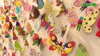 Tác phẩm mỹ thuật khổng lồ với 1300 cánh bướm giấy xuất hiện ở Hà Nội