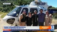 Mắc kẹt ở thác nước, gia đình được giải cứu nhờ tình tiết như trong phim