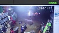 Camera ghi lại vụ tai nạn điện giật khiến hai chị em tử vong