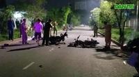 Hai xe máy tông trực diện, 2 người chết, 1 người nguy kịch