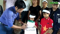 VIDEO: Trao hơn 141 triệu đồng của bạn đọc báo Dân trí tới 4 đứa con có bố gặp nạn, mất tại Đài Loan