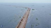 Con đường dưới nước chia đôi hồ nước ngọt lớn nhất Trung Quốc làm đôi