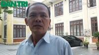 Ông Hồ Triều, bảo vệ trường ĐH Nghệ thuật, ĐH Huế buồn bã tâm sự