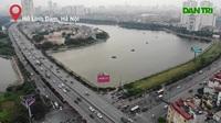 Toàn cảnh giao thông qua hồ Linh Đàm trước khi xây cầu vượt trăm tỷ