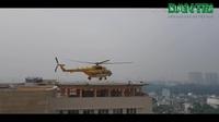 Trực thăng cấp cứu đáp xuống tòa nhà Viện Chấn thương Chỉnh hình