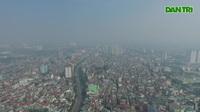 Bầu trời khu vực Hà Nội có chỉ số không khí cảnh báo khẩn cấp về sức khỏe