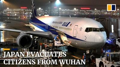 Máy bay chở công dân Nhật Bản từ Vũ Hán về nước