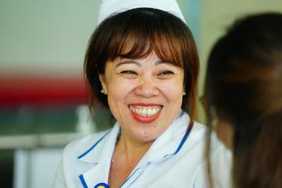 Điều dưỡng Kim Huệ cho rằng việc trấn an tinh thần hết sức quan trọng