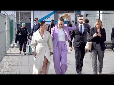 Cara Delevingne và Ashley Benson sành điệu đi xem thời trang