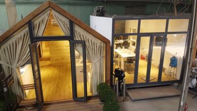 Độc lạ mô hình nhà di động thông minh, không gian xanh