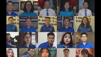 Thầy và Trò trường Đại học Mở Hà Nội hát Đoàn ca chào mừng ngày 26-3