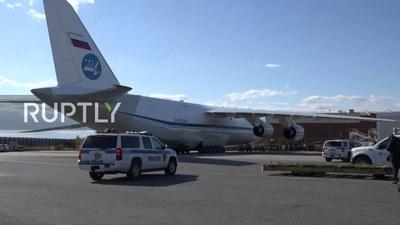 Máy bay quân sự chở viện trợ y tế của Nga đã tới Mỹ