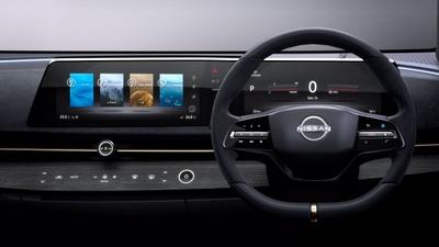 Màn hình trải dài của mẫu Nissan Ariya Concept