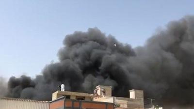 Hiện trường thảm khốc vụ rơi máy bay Pakistan