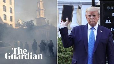 Cảnh hỗn loạn gần Nhà Trắng trước khi ông Trump thăm nhà thờ