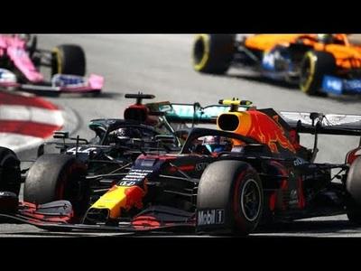 Hamilton đi lấn vào đường đua của Albon tại chặng AustrianGP 2020