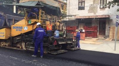 Rầm rộ thi công đoạn đường Nguyễn Công Trứ