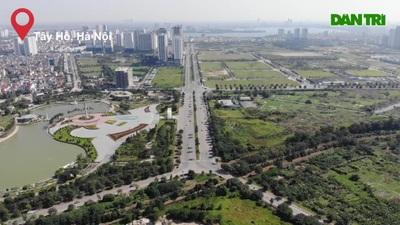 Ngắm tuyến đường 10 làn xe chưa được đặt tên tại Hà Nội