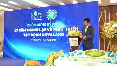 Ông Bùi Thành Nhơn tại buổi lễ kỷ niệm 27 năm thành lập của Novaland
