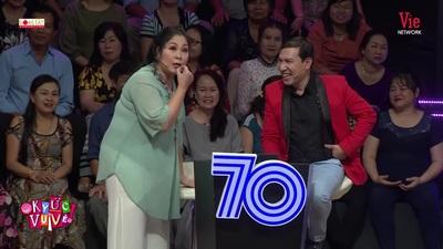 Hồng Vân đòi đánh đòn Quang Thắng ngay tại sân khấu