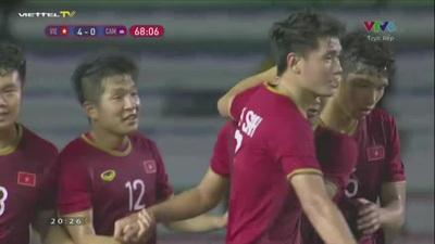 U22 Việt Nam 4-0 U22 Campuchia: Đức Chinh lập hat-trick