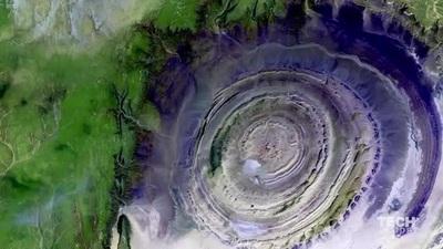 """""""Con mắt"""" khổng lồ bí ấn trên sa mạc lớn nhất thế giới"""