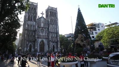 Các nhà thờ ở Hà Nội trang hoàng đón Noel