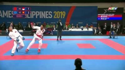 Thanh Duy giành HCV Karatedo đối kháng hạng 60kg
