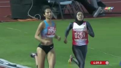 Phạm Thị Oanh giành HCV đường chạy 1500m nữ
