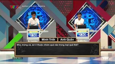 Minh Triết và Anh Quân trải qua phần thi phụ gay cấn để giành vé chơi Quý 1 Olympia