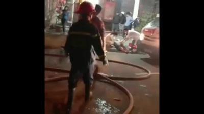 Cháy tiệm giặt ủi ở Đà Nẵng, một người Hàn Quốc hoảng loạn nhảy lầu