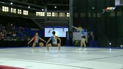 Bài thi giành HCV aerobic của bộ ba vận động viên Việt Nam