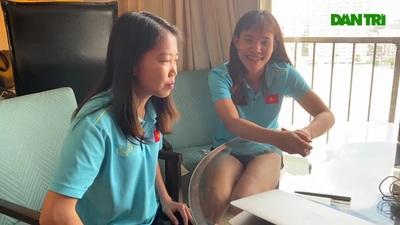 Những cô gái vàng bóng đá nữ SEA Games 30 giao lưu cùng độc giả Dân trí từ Philippines
