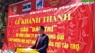 Phat biểu của nhà tài trợ và Chủ tịch UBND xã Bắc Lý.