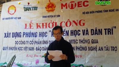 Nhà báo Duy Thảo - Trưởng Văn phòng đại diện Khu vực Bắc miền Trung phát biểu.