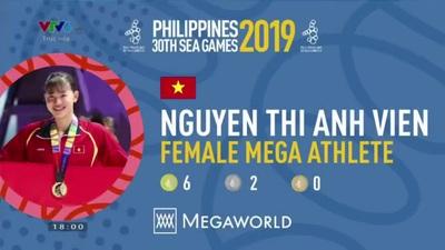 Ánh Viên nhận giải thưởng nữ vận động viên xuất sắc nhất tại SEA Games 30