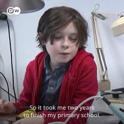 Thần đồng Bỉ 9 tuổi sắp tốt nghiệp đại học bất ngờ bỏ học