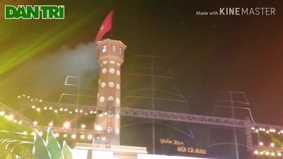 Khánh thành Cột cờ Hà Nội tại Mũi Cà Mau.