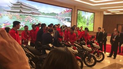 Loạt xe côn nam được Thủ tướng tặng thưởng cho các cầu thủ U22 Việt Nam